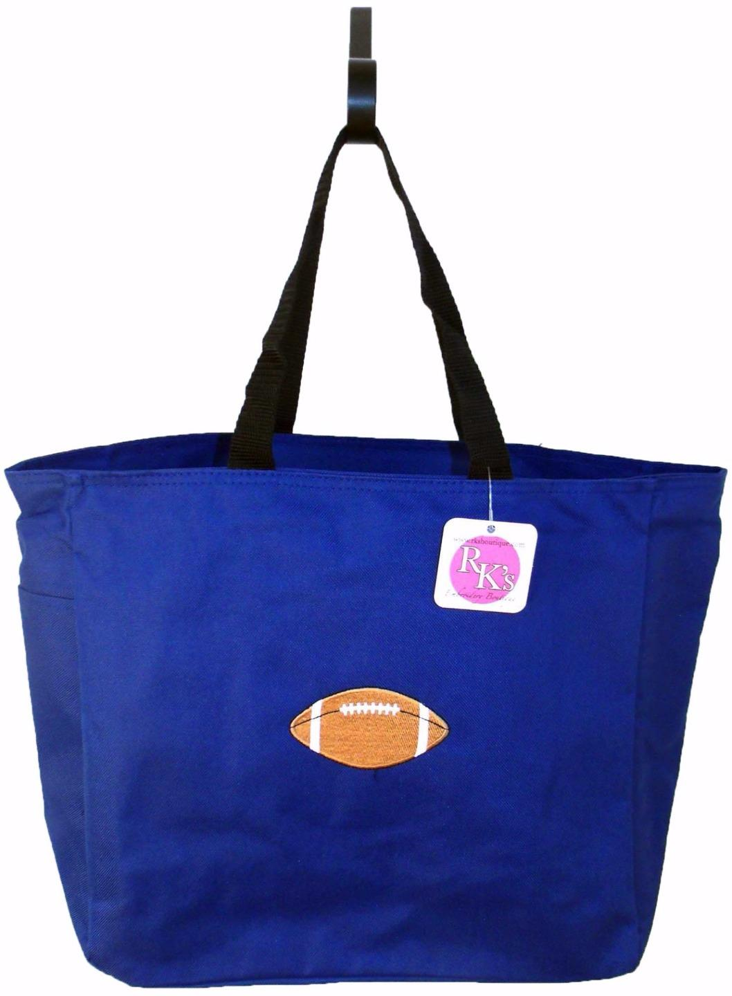 football team mom free name custom embroidered essential tote bag nwt ebay. Black Bedroom Furniture Sets. Home Design Ideas