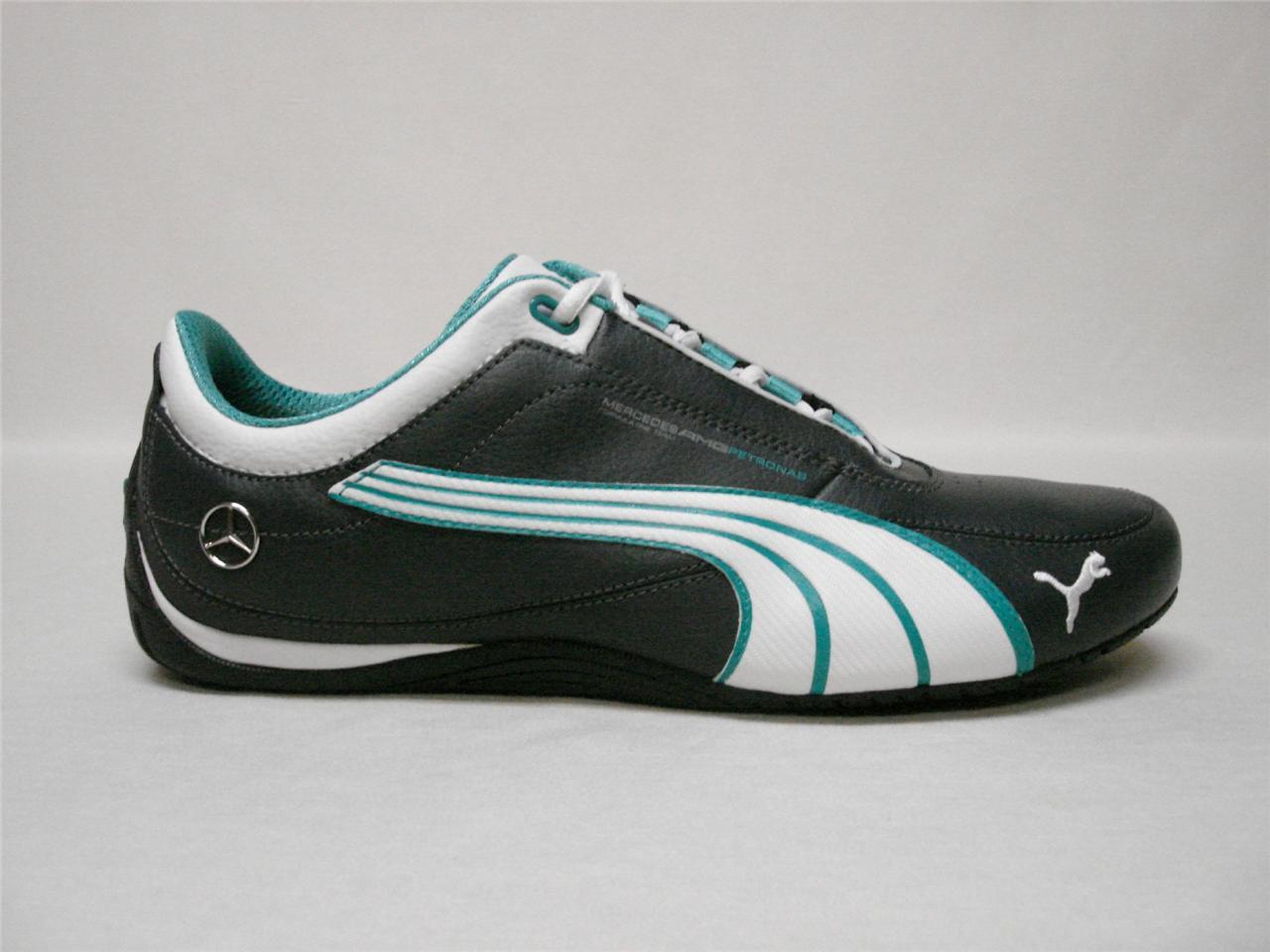 Nib puma drift cat 4 mamgp grey white mercedes mens shoes for Puma mercedes benz