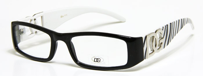 Womens Designer Eyeglasses DG Black White Frame Animal ...