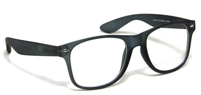 Mens Glasses Classic Square Matte Black Dark Gray Spring ...