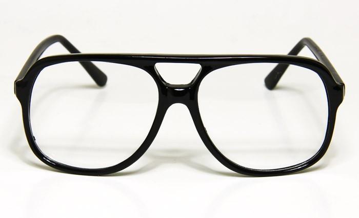 New Mens Vintage Eyeglasses Clear Lens Black Frame ...