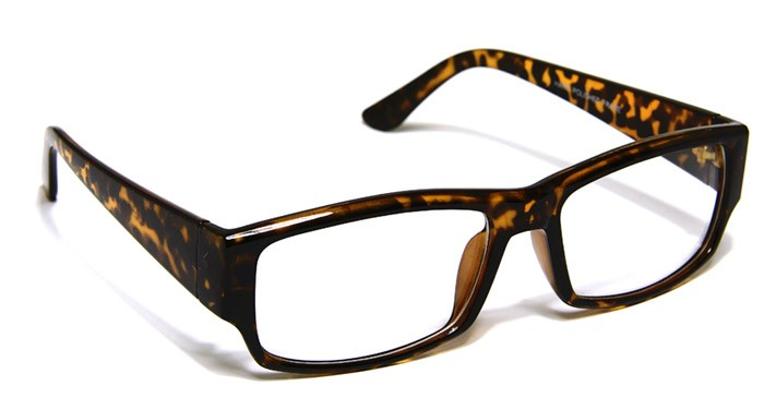 Large Rectangular Glasses Frame : Yellow & Black Tortoise Frame Rectangle Glasses Clear Lens ...