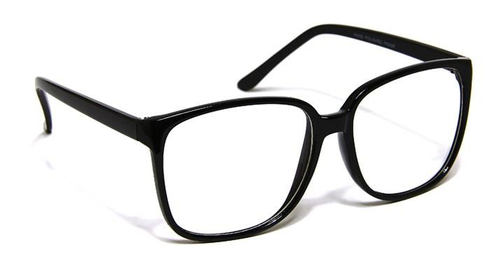 Black Frame Square Glasses : New Black Frame Large Square Glasses Mens Womens Fashion ...