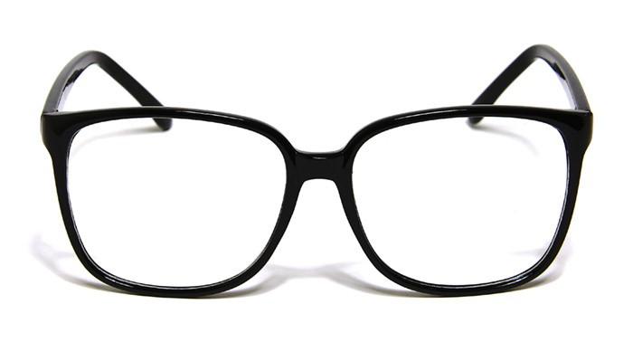 New Black Frame Large Square Glasses Mens Womens Fashion ...