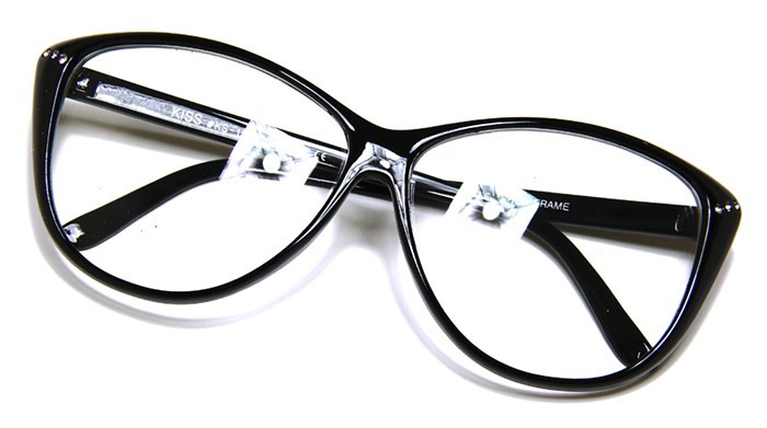 Womens Sexy Eyeglasses 80's Vintage Cat Eye Crystals Thin ...