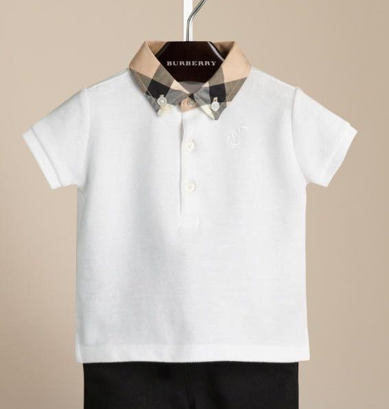 New authentic burberry boys polo shirt t shirt size 6 9 12 for What size shirt for 8 year old boy