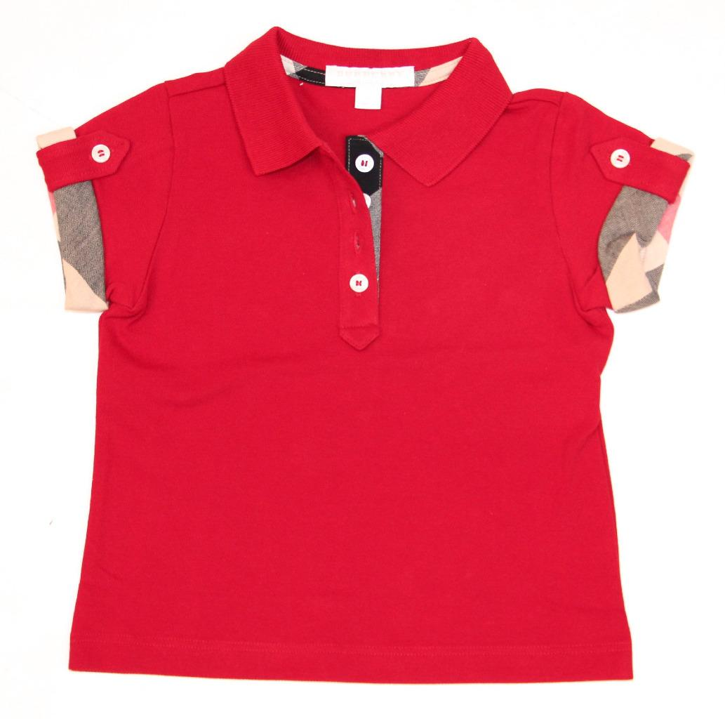new authentic burberry girls check polo shirt tshirt 4 5
