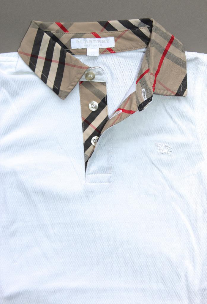 New authentic burberry check collar boys polo shirt t for Where are burberry shirts made