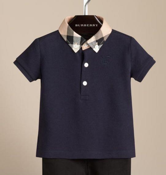 New Authentic Burberry Boys Polo Shirt T Shirt Size 6 9 12