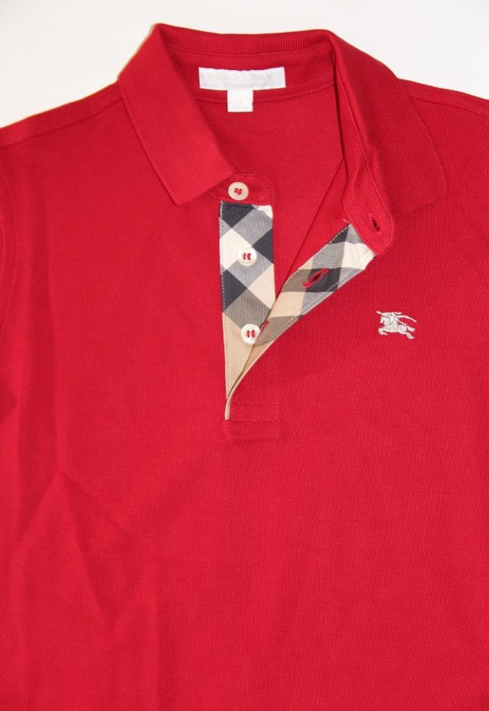 New authentic burberry check boys polo shirt t shirt size for 7 year old boy shirt size