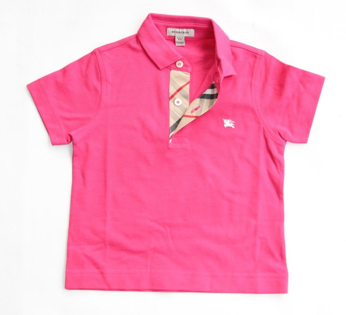 New Authentic Burberry Check Boys Polo Shirt T Shirt Size
