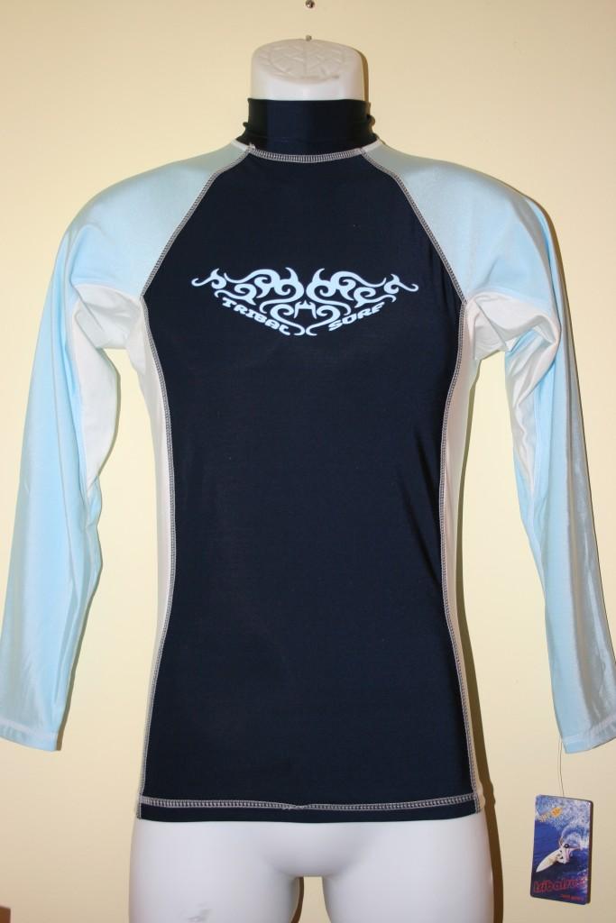 Tribalsurf men 39 s rash guard surf shirt spf 50 rgmls 5 ebay for What is a rash shirt