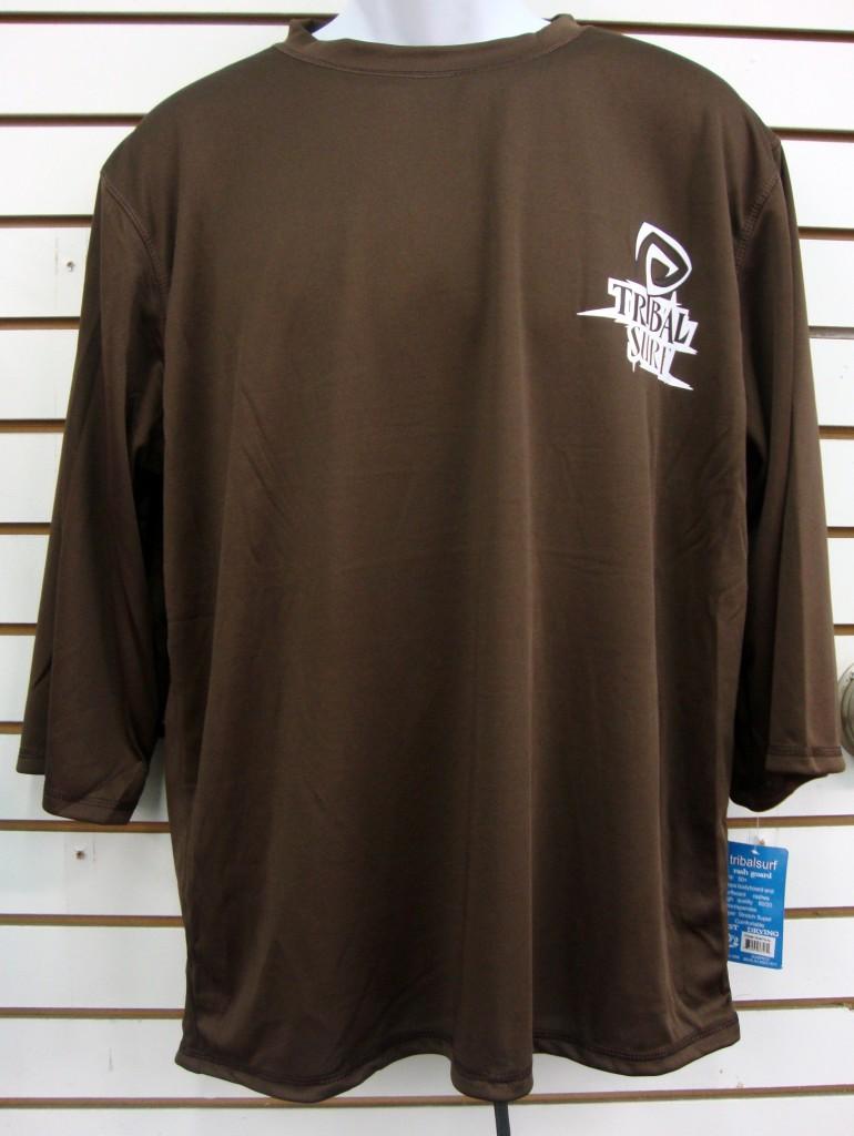 Mens Spf 50 Surf Shirt Rash Guard Loose Fit Mid Sleeve T