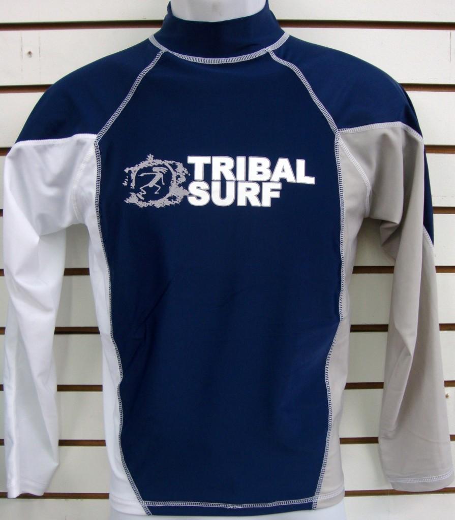 Mens Spf 50 Surf Shirt Rash Guard Long Sleeve Small Thru
