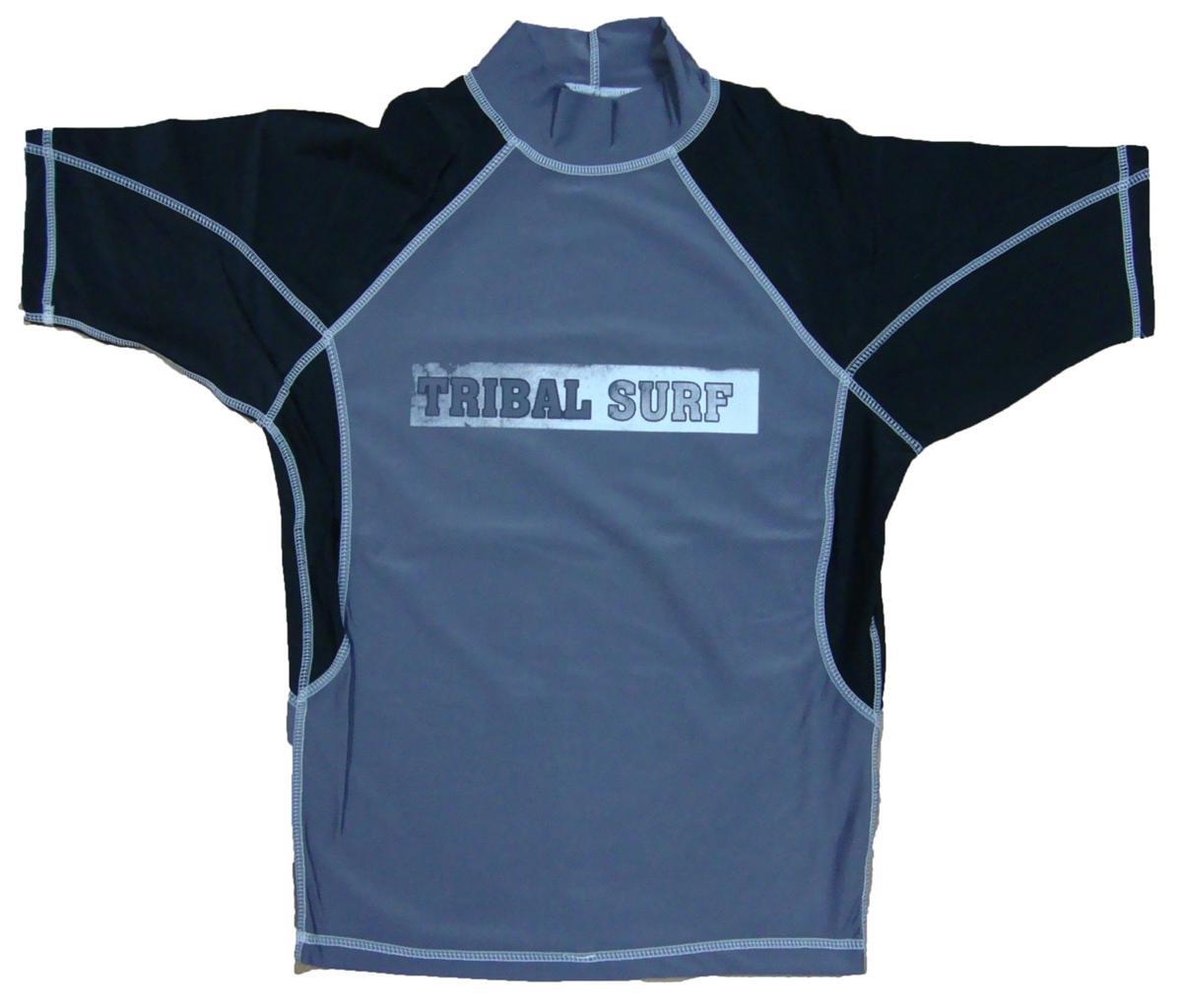 Mens Spf 50 Surf Shirt Rash Guard Short Sleeve Small Thru