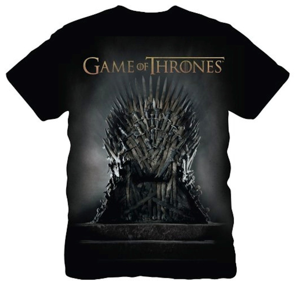 Game of thrones iron throne official licensed mens t shirt for Throne of games shirt
