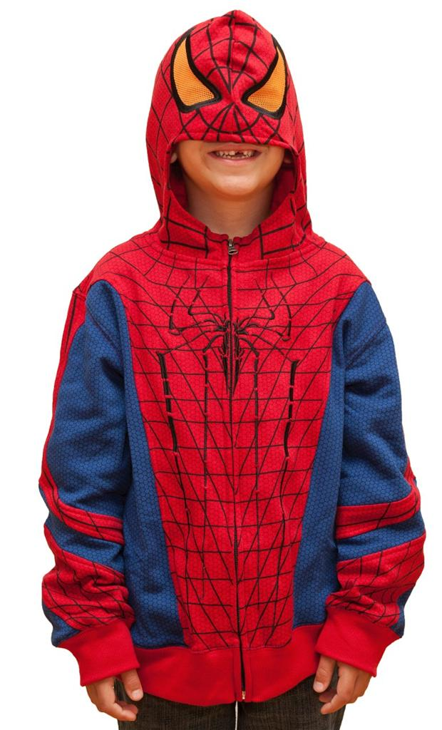 Marvel Comics Spiderman Costume Zip Up Hoodie Boys Sizes 4 and Up