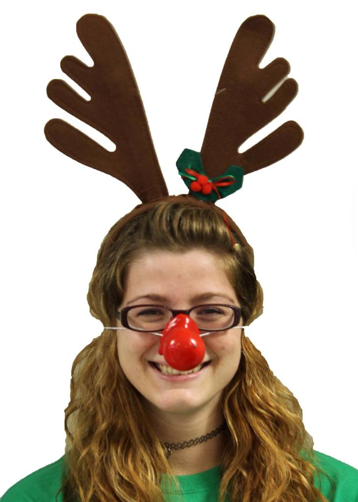 RUDOLPH-CHRISTMAS-COSTUME-REINDEER-ANTLERS-WITH-OPTIONAL-HONKING-RED ...