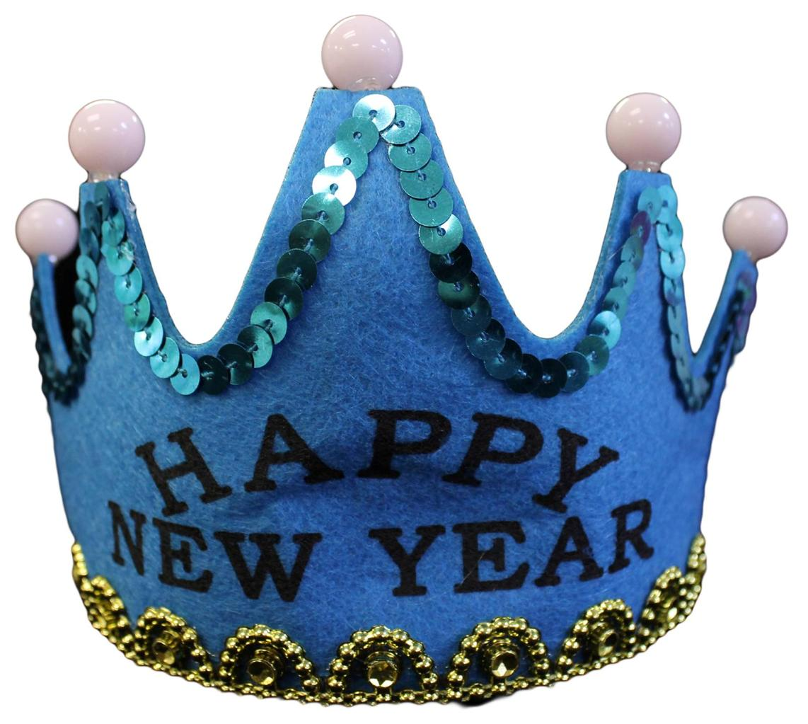 new years eve party favor flashing happy new year tiara crown ebay. Black Bedroom Furniture Sets. Home Design Ideas