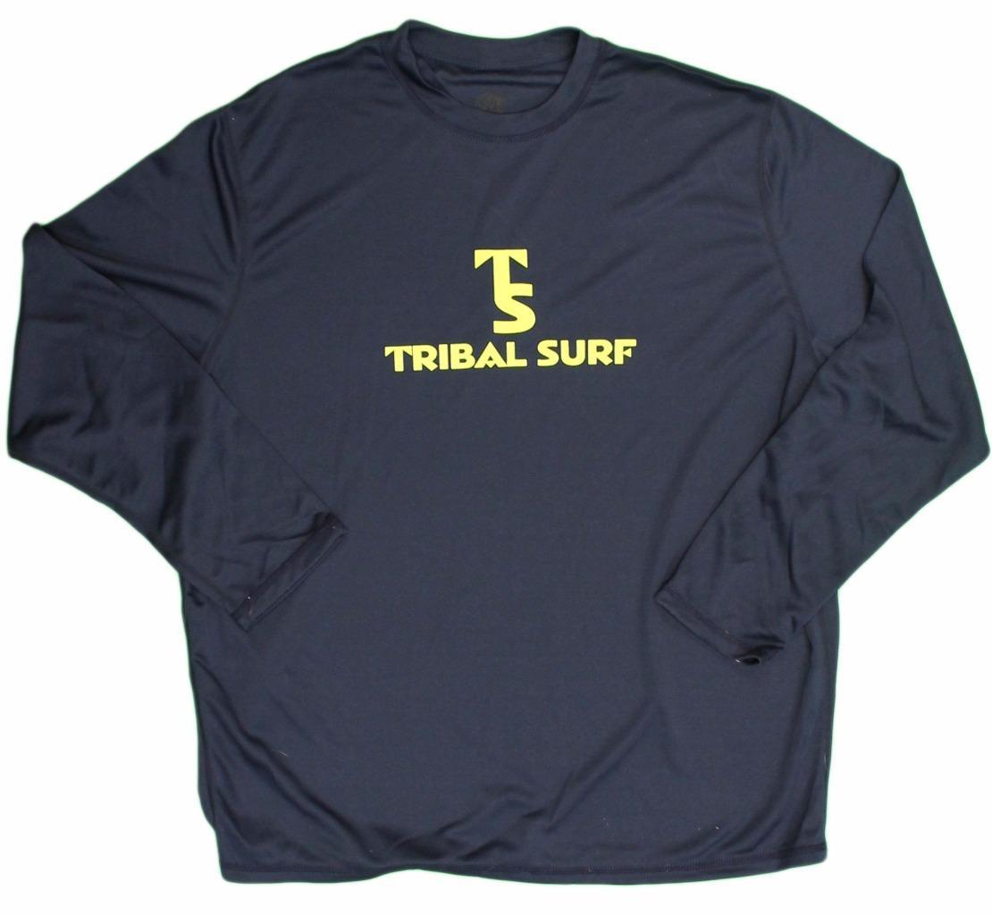 Mens Upf Spf 50 Surf Shirt Rash Guard Loose Fit Long