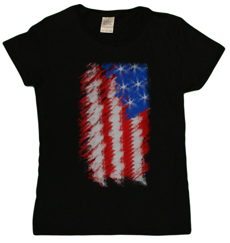 Ladies American Flag 4th Of July Tribute Patriotic