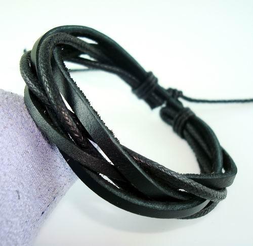 Мужские плетеные кожаные браслеты своими руками