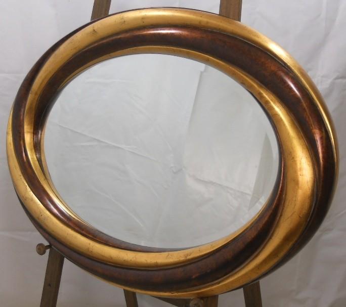 Mirror large oval hanging gilt frame bevel edge mirror ebay for Hanging a large mirror