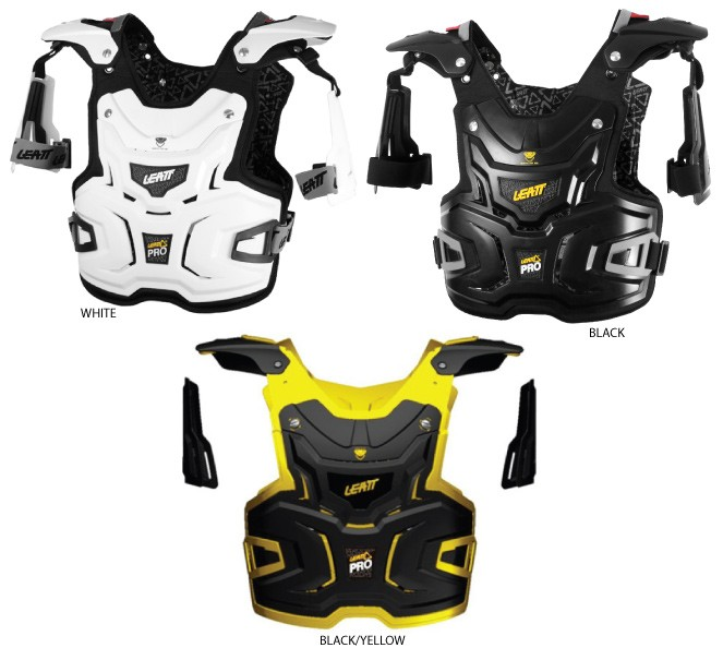 Details about leatt gpx moto chest protector adventure pro white black