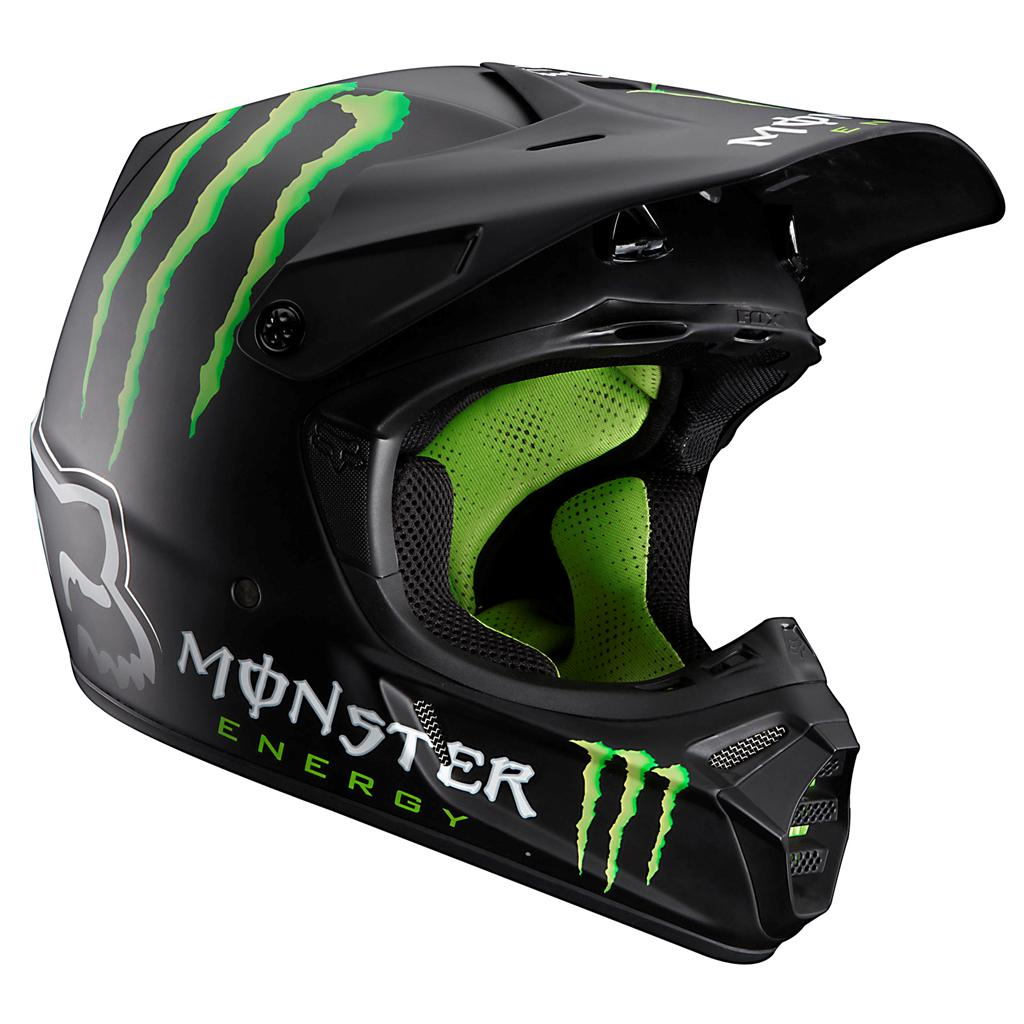 fox racing v3 rc ricky carmichael monster energy helmet. Black Bedroom Furniture Sets. Home Design Ideas