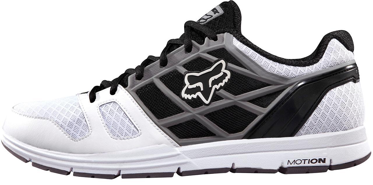 new fall 2012 fox racing motion elite shoes white grey