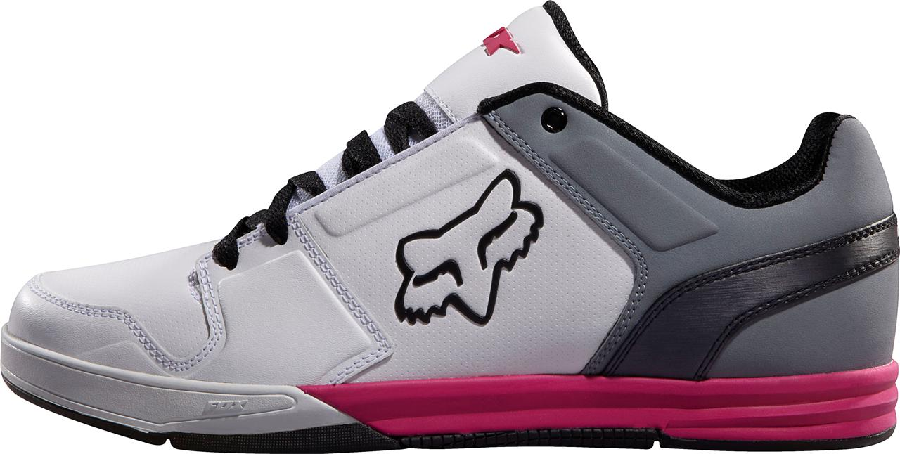 fox racing newstart shoe white grey pink athletic