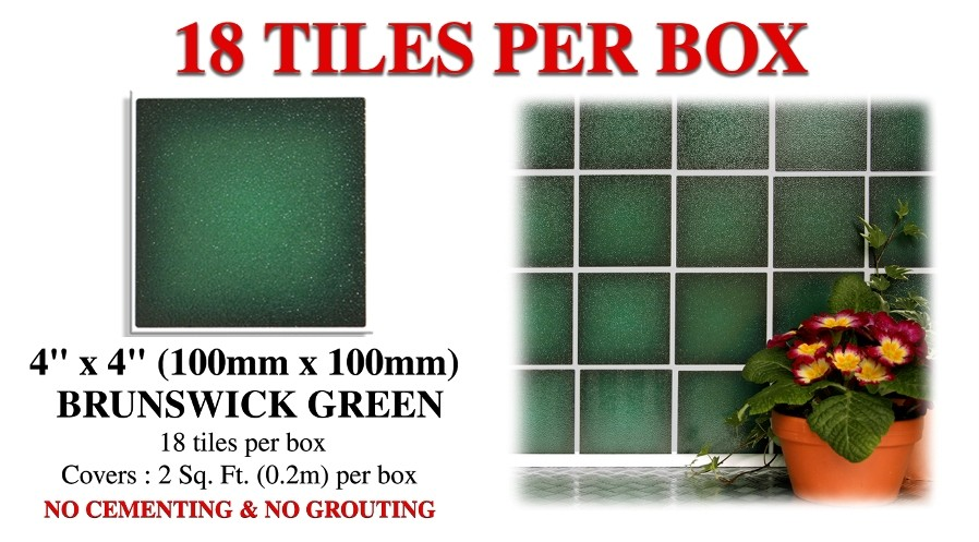 dark green stick on wall tiles stickers for bathroom kitchen ebay