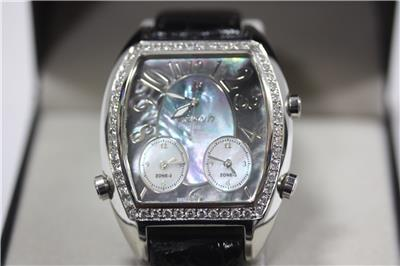 Polanti 2 Carat Diamond 3 Time Zone Watch 46mm | Property Room