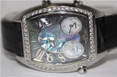 Usher Polanti Watch with 1 Carat of Diamonds, Stainless ...