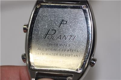 Polanti Stainless Steel Diamond Wristwatch - icollector.com