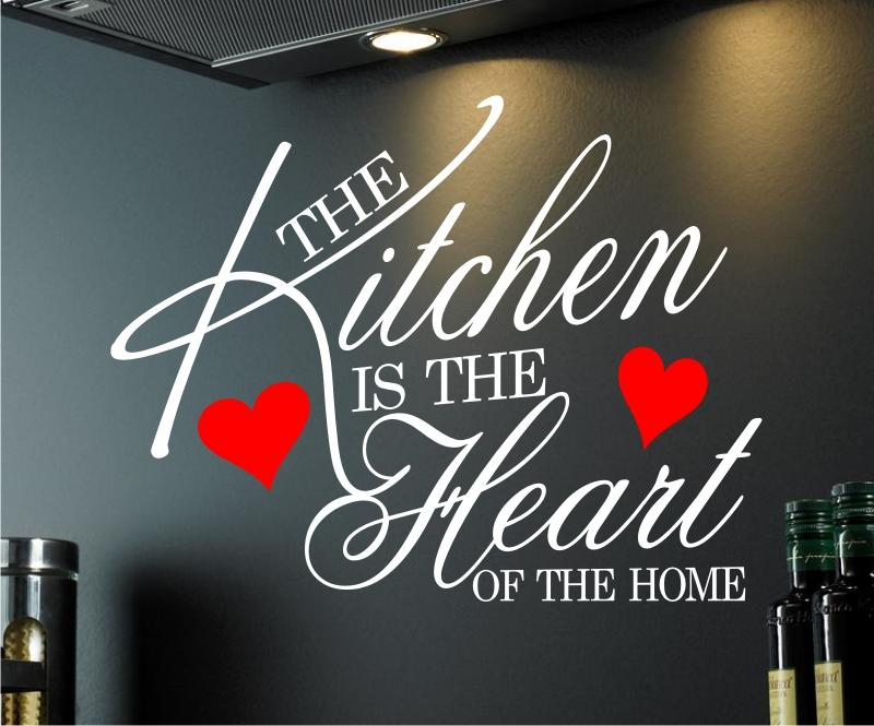 Wall art sticker quote kitchen heart home dining room - Dining room wall art stickers ...