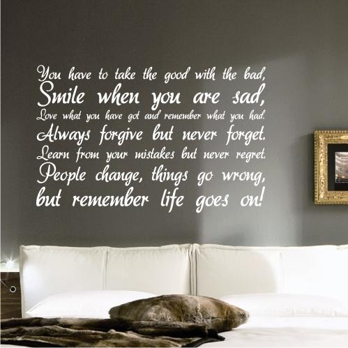life inspirational wall sticker quote art decal quote