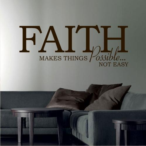 39 Faith 39 Wall Sticker Quote Art Decal Lounge Bedroom Living Room Saying Christian Ebay