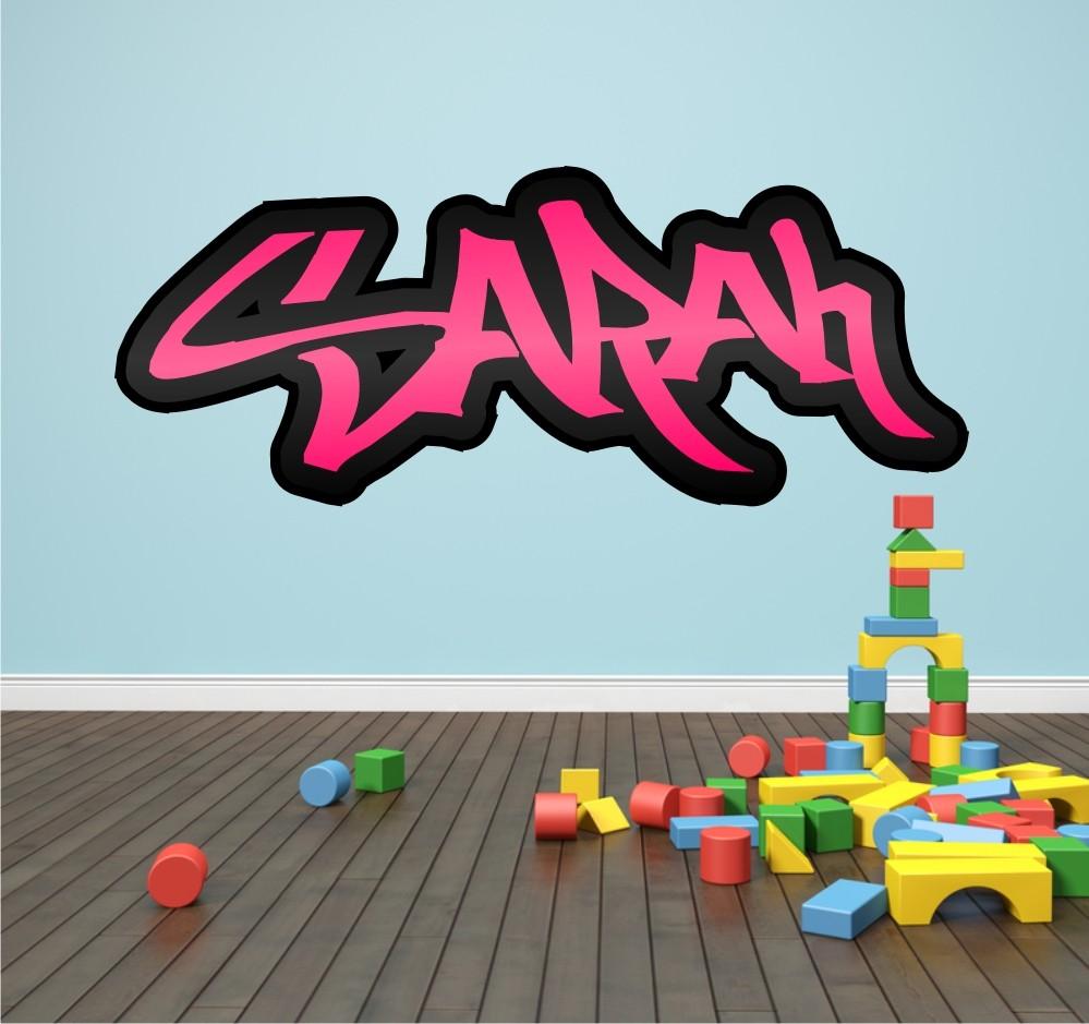 Personalised graffiti name wall sticker kids transfer huge bedroom personalised graffiti name wall sticker kids transfer huge amipublicfo Gallery