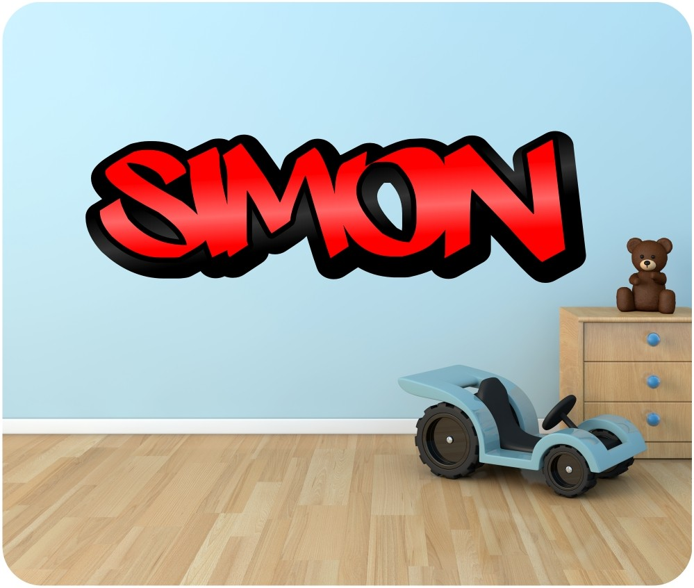 Personalised Graffiti Name Wall Sticker Kids Transfer HUGE  Part 61