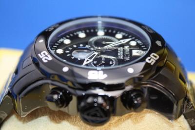 Mens Invicta 0076 Pro Diver Scuba Black Combat Chronograph Stainless