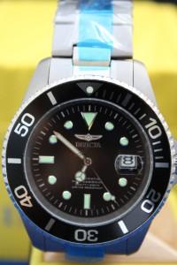 Mens Invicta 0420 Titanium Pro Diver Automatic Watch 21 Jewel New