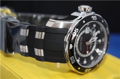 Invicta 6987 Scuba Pro Diver Black Dial Rubber GMT Watch New