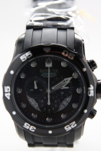 Mens Invicta 6986 Pro Diver Scuba Black Chronograph Watch Combat