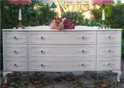 French Provincial Vintage Queen Anne Chest Of Drawers See