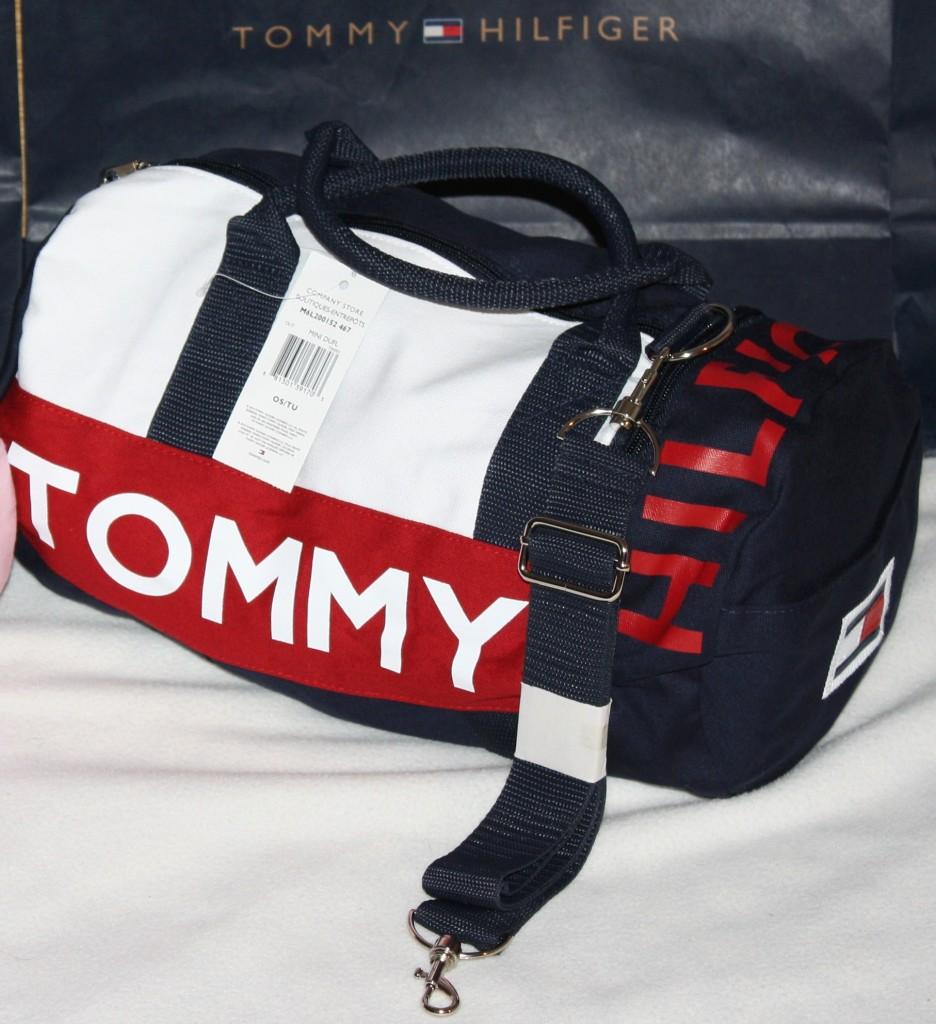 NWT TOMMY HILFIGER SMALL MINI Duffle Gym Bag