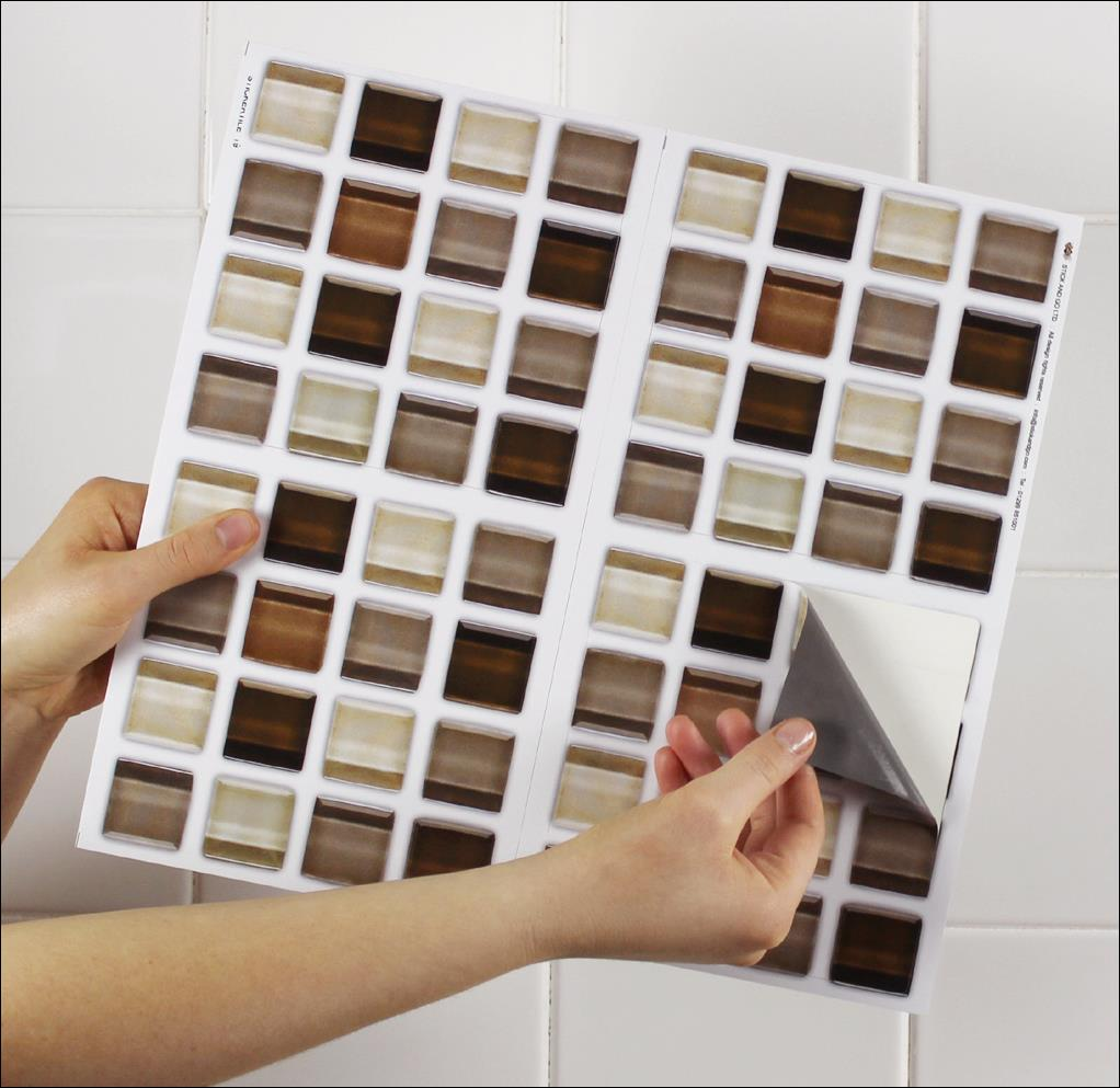 4 Tile Transfer Stickers 6 X 6 Glass Stone For Kitchen