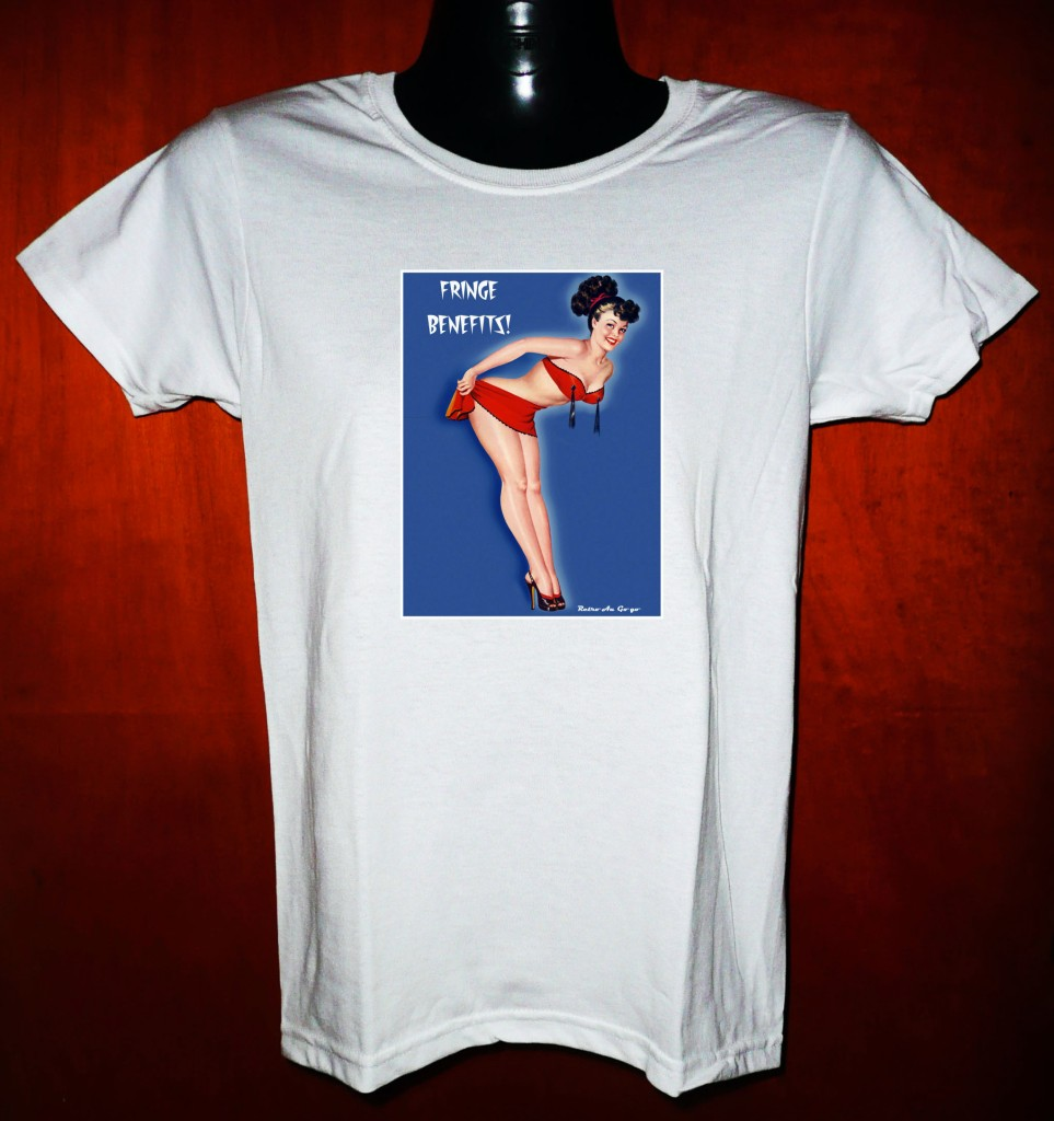 New retro vintage burlesque pinup pin up t shirt mens for Mens shirt with tassels