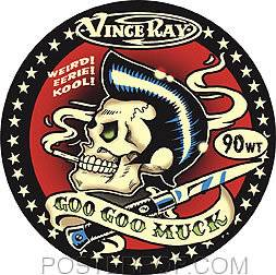NEW-STICKER-DECAL-ROCKABILLY-KUSTOM-KULTURE-VINCE-RAY-GOO-GOO-MUCK-ELVIS-BLADE