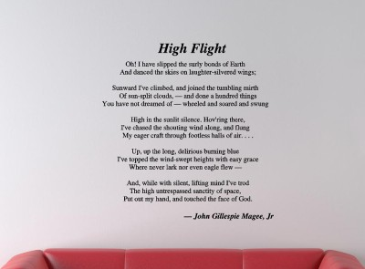Simplicity image in high flight poem printable